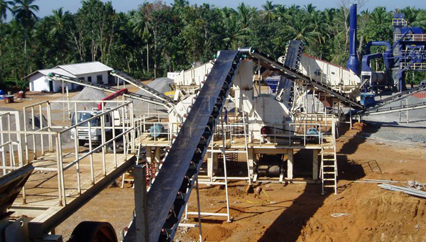 斯里兰卡400t/h花岗岩石料生产线现场